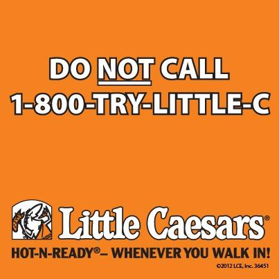 Little Caesar's Hungry Vanity Number