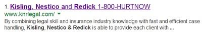 1-800-HURTNOW Google listing vanity number