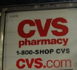 CVS delivery truck vanity number