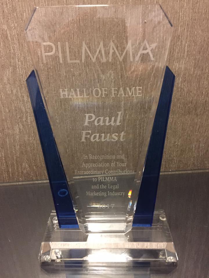 PILMMA Legal Marketing Award - Paul F. 2017