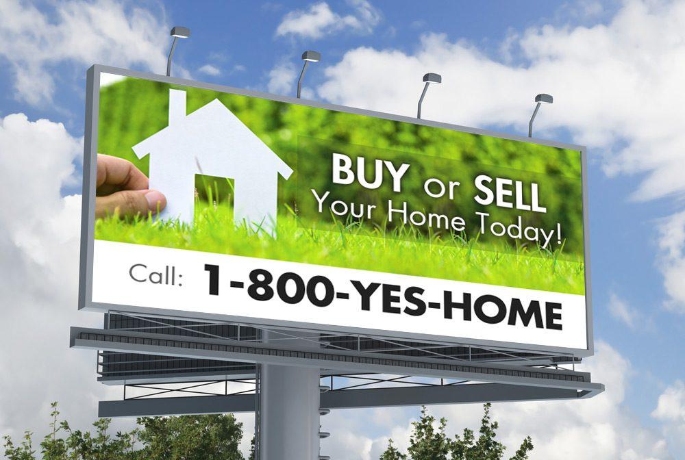 1-800-YES-HOME billboard ad
