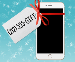A custom phone number makes for a unique gift
